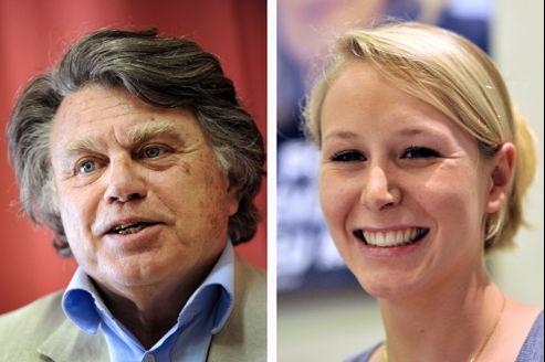 Gilbert Collard et Marion Maréchal-Le Pen, élus dimanche à l'Assemblée nationale.