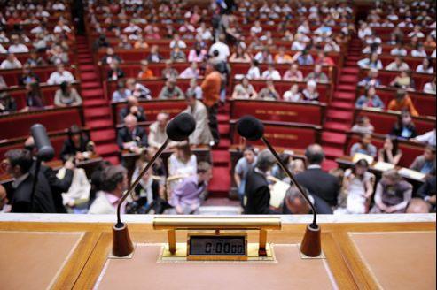 Le perchoir de l'Assemblée nationale, où se tient le président du Parlement.