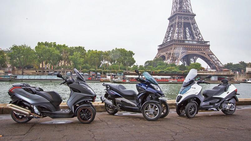 les scooters trois roues ont toujours la cote. Black Bedroom Furniture Sets. Home Design Ideas