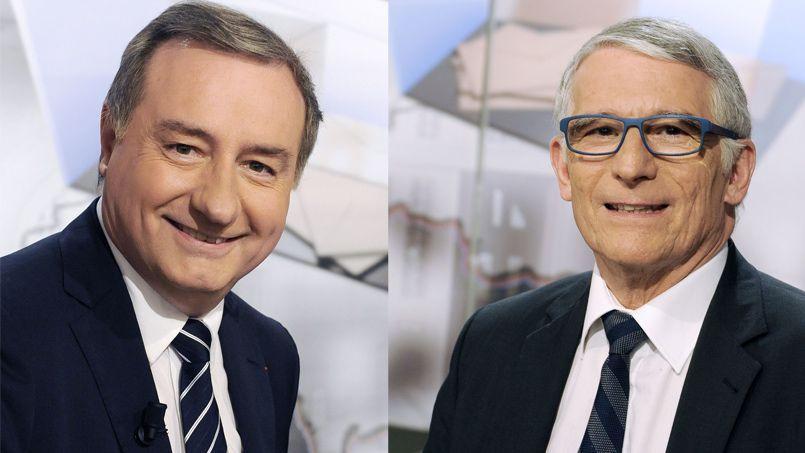 Jean-Luc Moudenc arriverait en tête au premier tour, mais le maire sortant Pierre Cohen remporterait le deuxième tour du scrutin à Toulouse. (Photos AFP)
