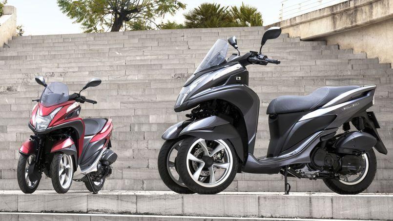 yamaha et mbk un scooter trois roues moins de 4 000 euros. Black Bedroom Furniture Sets. Home Design Ideas