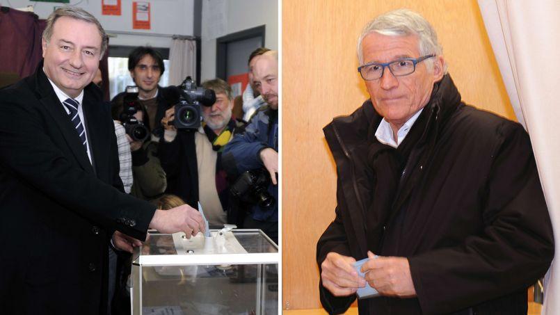 Jean-Luc Moudenc à gauche et Pierre Cohen à droite.