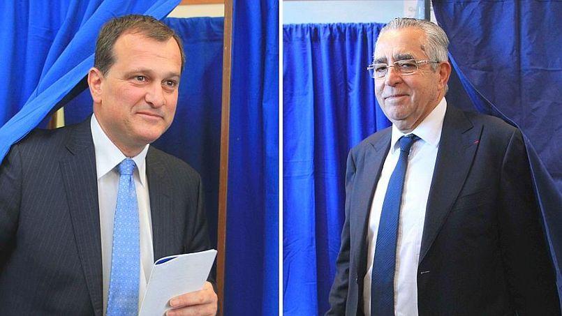Jean-Marc Pujol (à droite) part favori face à Louis Aliot (à gauche) pour conserver la mairie de Perpignan.