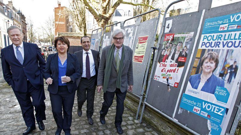 Martine Aubry, ici lors du premier tour des municipales, est en ballotage favorable à Lille.