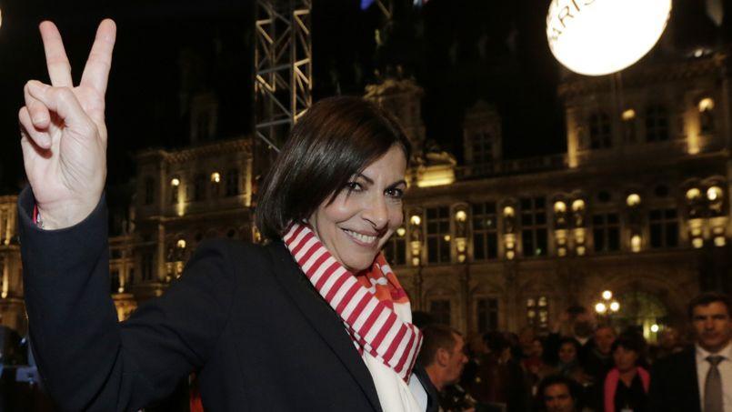 Anne Hidalgo le soir de son élection à la Mairie de Paris, le 30 mars 2014.