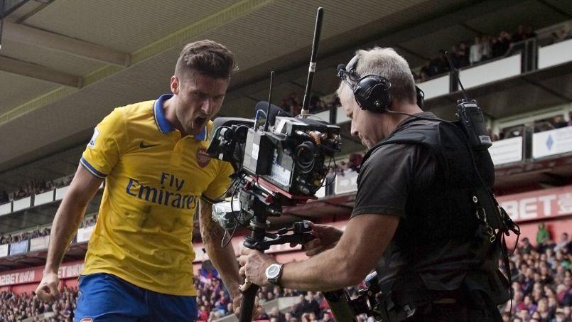 L'attaquant français d'Arsenal Olivier Giroud en 2013.
