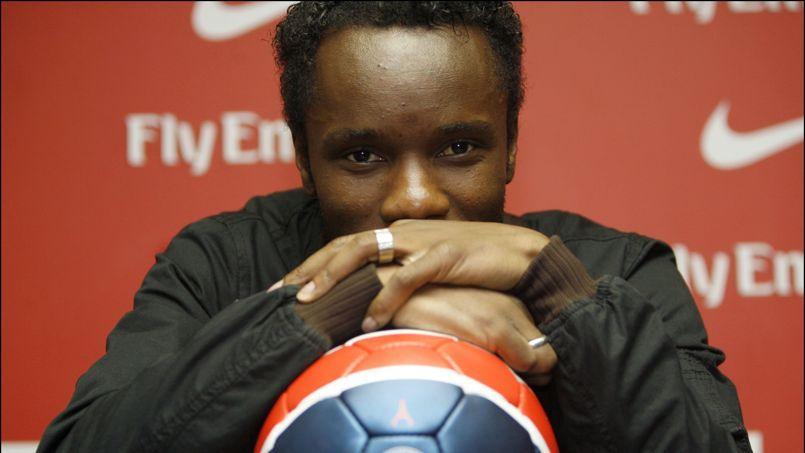 Peguy Luyindula avait signé dans les dernières heures du mercato hivernal au PSG, en 2007.