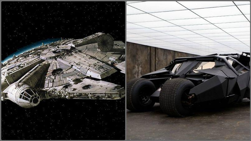 star wars vii la batmobile incorpor e au faucon millenium. Black Bedroom Furniture Sets. Home Design Ideas