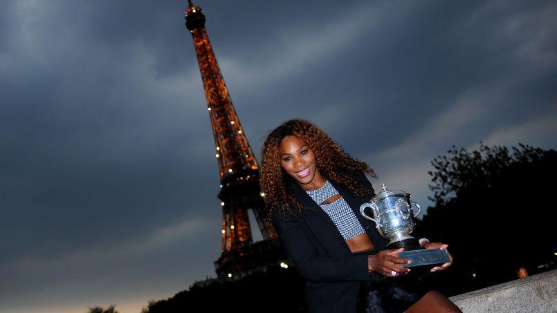 Serena Williams en 2013 à Paris après sa victoire à Roland-Garros.