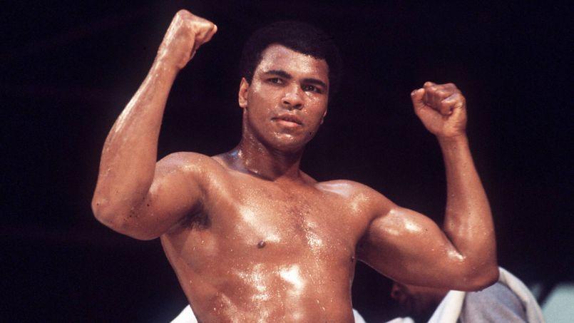 Mohamed Ali, au Championnat du monde en 1976.
