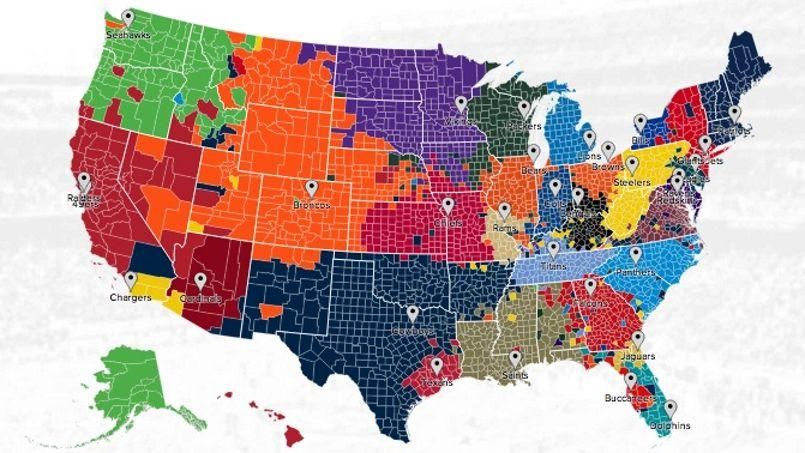 7aaa06fa7256d Twitter localise les supporters de la NFL sur une carte
