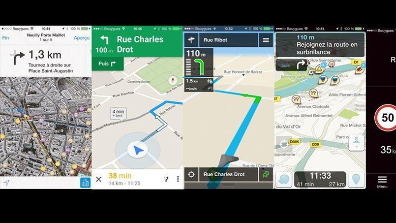 comparatif six navigateurs gps pour smartphone. Black Bedroom Furniture Sets. Home Design Ideas