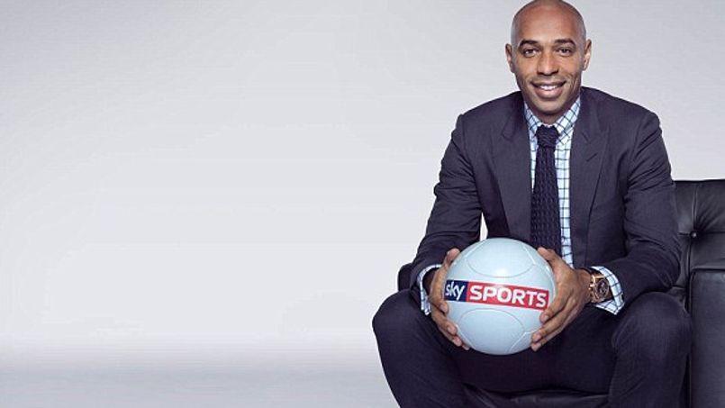 Thierry Henry nouveau consultant vedette à la télévision anglaise. (Crédits: Sky Sports).