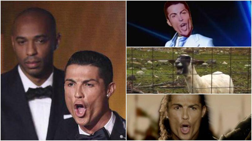Twitter se moque du cri étrange de Cristiano Ronaldo