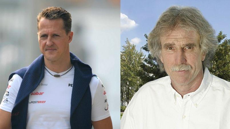 Michael Schumacher et son médecin Johannes Peil (Crédits photo: Sutton/Panoramic/Sportklinik Bad Nauheim).