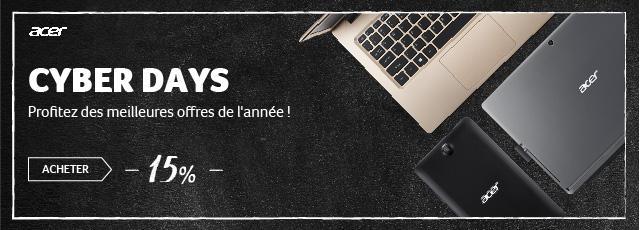 Équipez-vous avec la meilleure technologie sans vous ruiner grâce aux offres Black Friday Acer