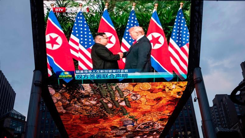 Donald Trump et Kim Jong-un lors du sommet à Singapour.