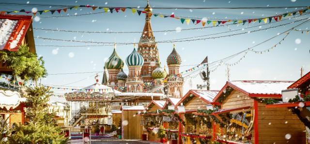 La magie de Moscou et Saint-Pétersbourg en hiver