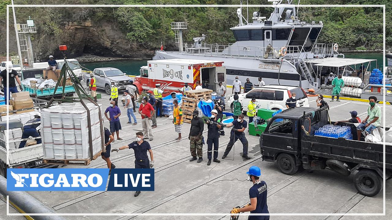 Éruption de La Soufrière: l'aide humanitaire française arrive à Saint-Vincent-et-les-Grenadines