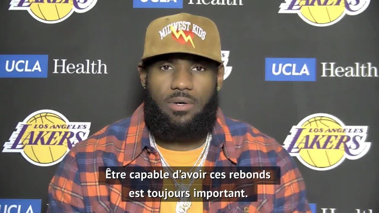 Lakers - LeBron : ''Contrôler le match dans trois facettes différentes du jeu''