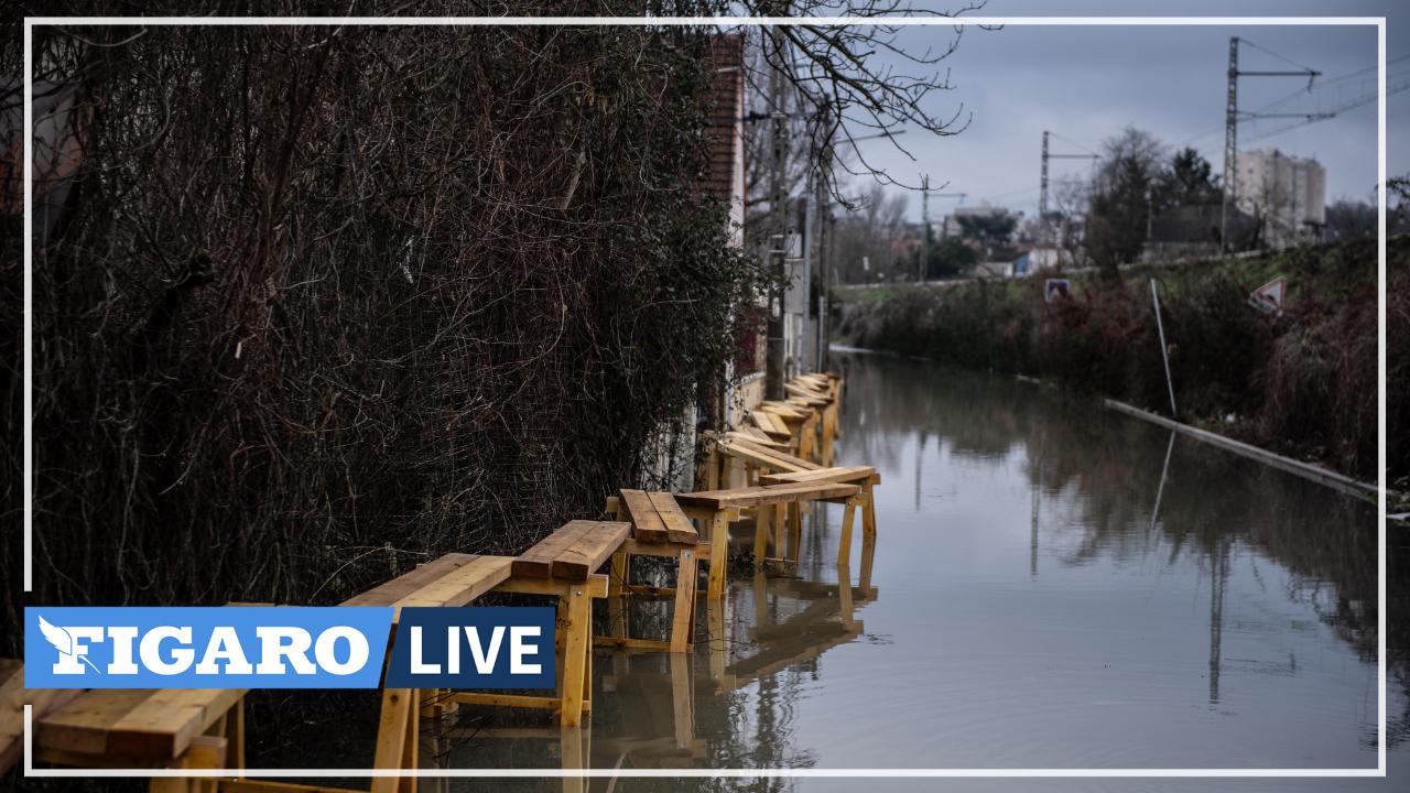 Crue: à Lagny-sur-Marne, la rivière sort de son lit