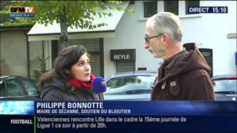 Le maire de Sézanne soutient le bijoutier