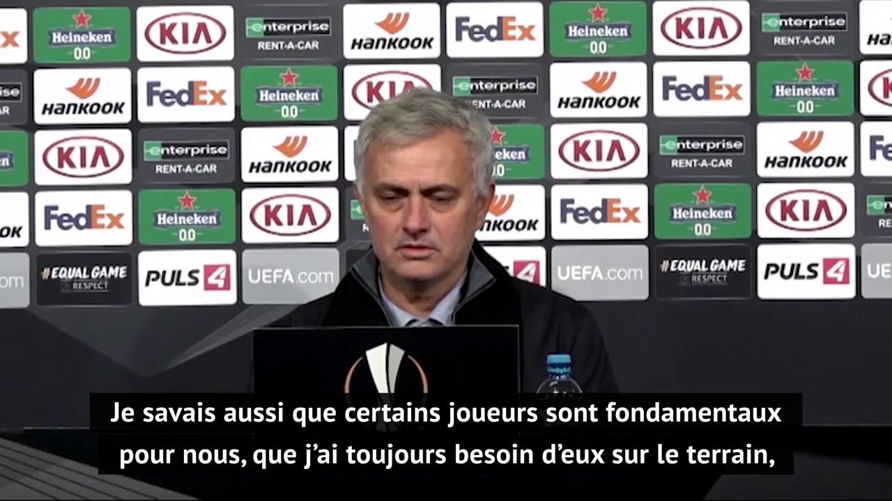 Groupe J - Mourinho : La phase de groupes de Ligue Europa ne motive pas certains de mes joueurs