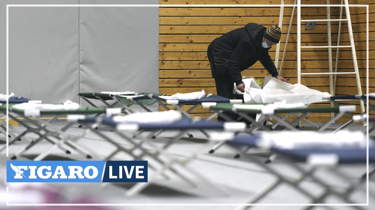 À Strasbourg, un gymnase a ouvert pour permettre aux sans-abri d'échapper au froid glacial