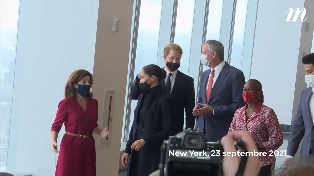 La sortie officielle de Meghan Markle et du prince Harry au One World Trade Center