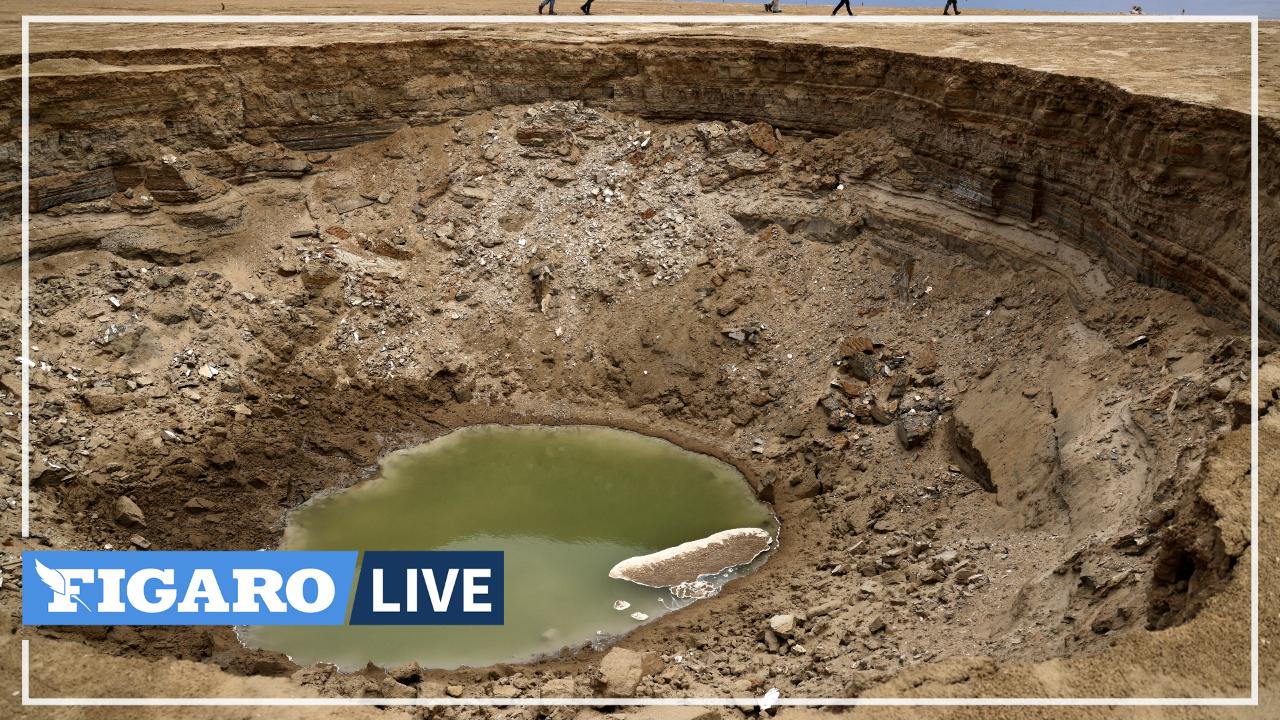 En Israël, la mer Morte disparaît petit à petit, laissant place à des cratères