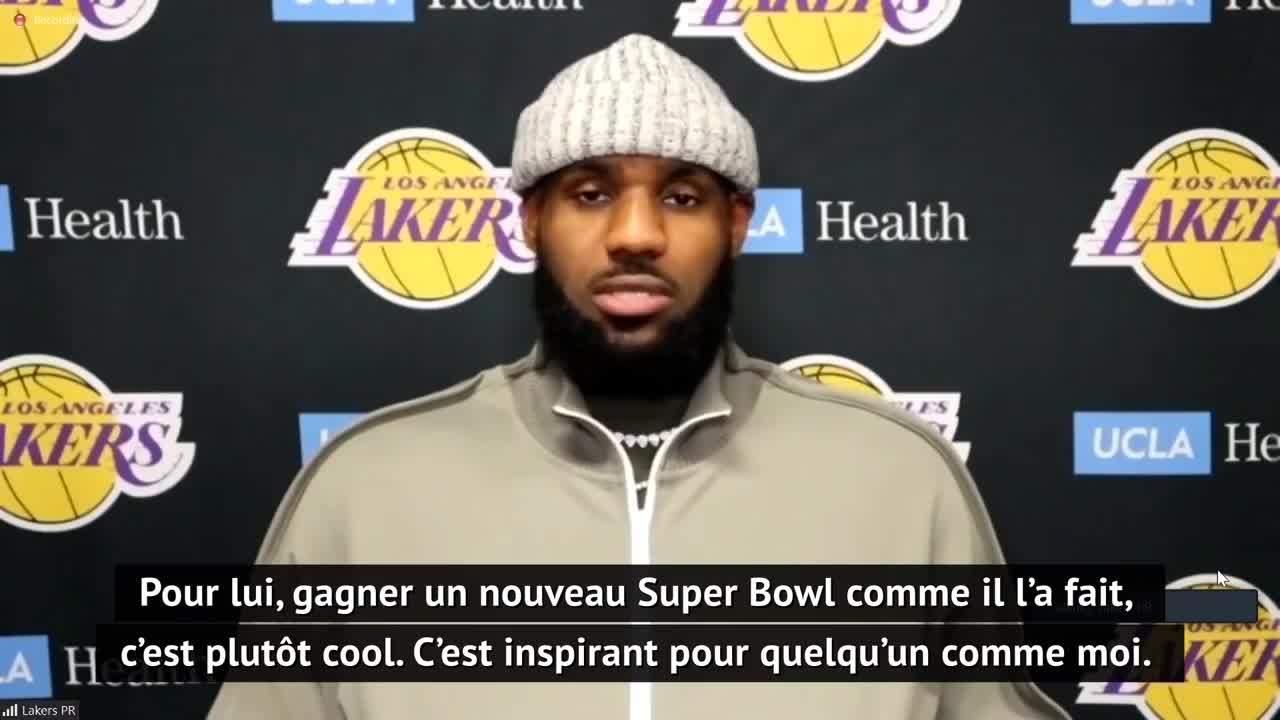 Lakers - LeBron James : Tom Brady est l'un des GOAT, c'est une inspiration