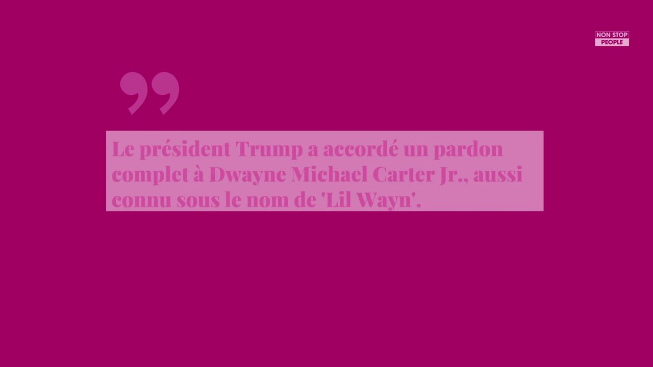 Non Stop People - Donald Trump : Lili Wayne gracié par le président américain