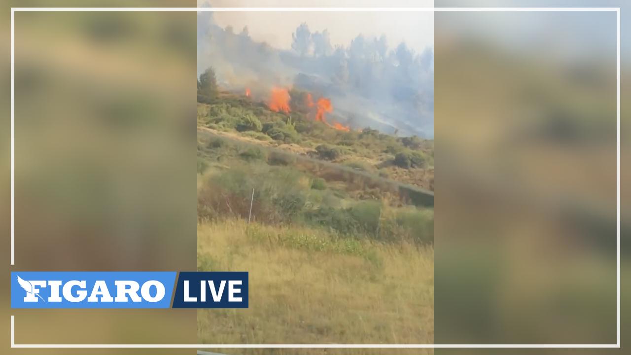 Les images de l'important incendie entre Carcassonne et Narbonne