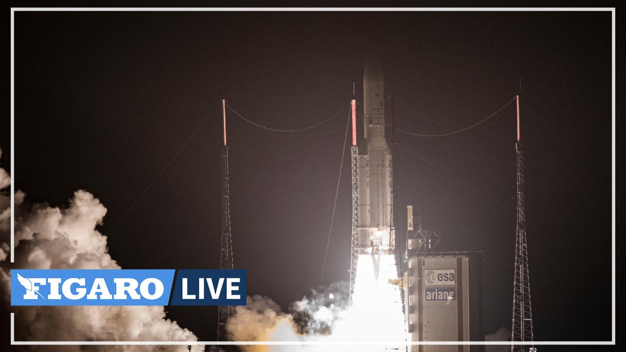 A Kourou, succès du lancement d'Ariane-5, « la fusée de tous les records »