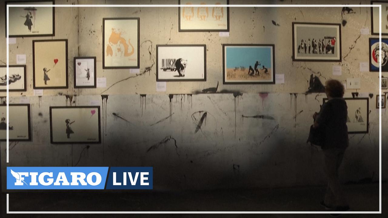 À Grigny, le street-artiste Banksy s'expose dans le quartier populaire de la Grande Borne