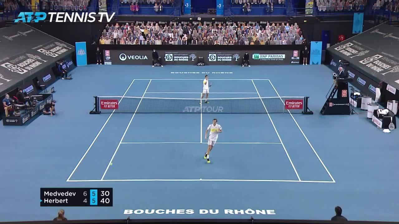 Marseille - Herbert vaillant mais vaincu par Medvedev en finale