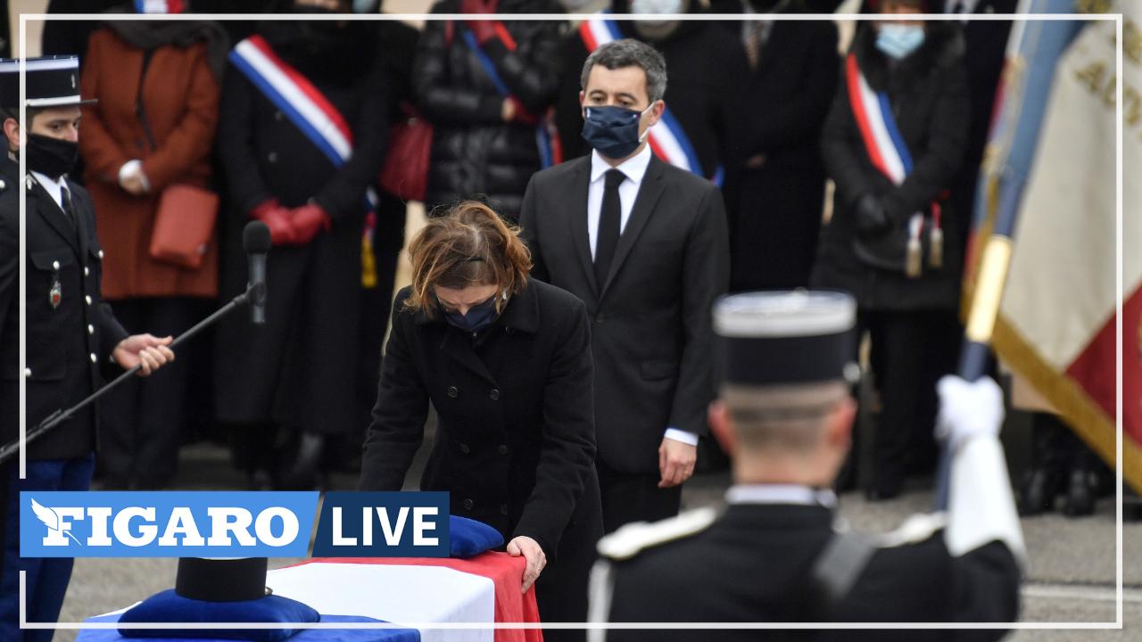 Puy-de-Dôme: Gérald Darmanin et Florence Parly remettent la Légion d'honneur à titre posthume aux gendarmes tués