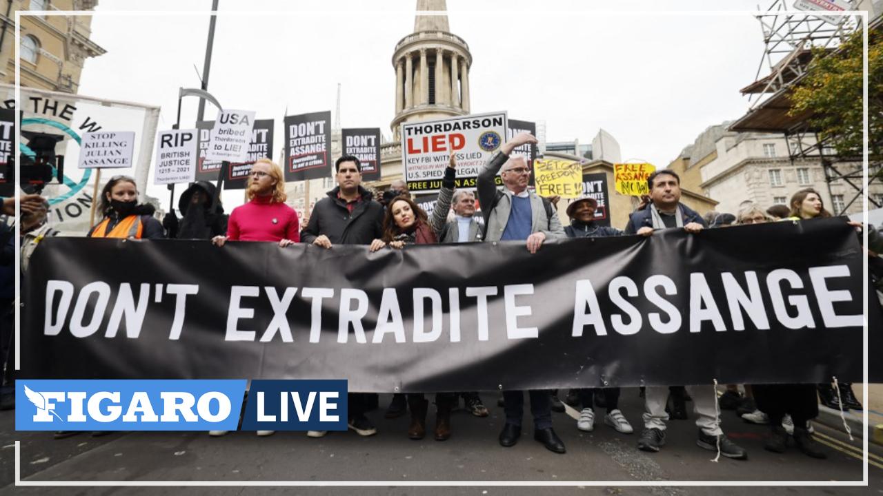 Les soutiens d'Assange défilent à Londres avant l'appel de son extradition