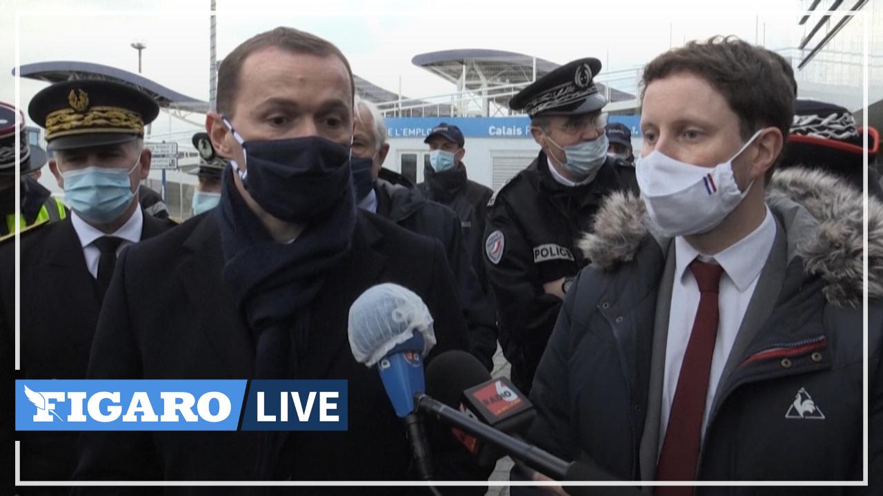 Brexit: Olivier Dussopt et Clément Beaune saluent «une journée historique» sur le port de Calais