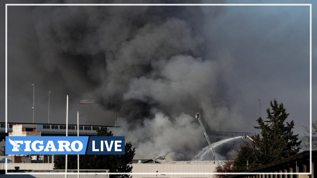 Incendie à Aubervilliers: les images impressionnantes des pompiers de Paris
