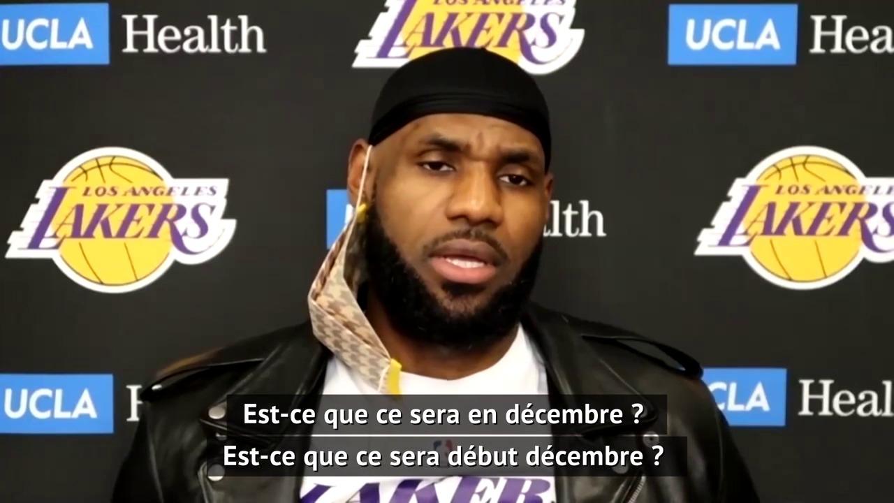 Lakers - LeBron : Heureux que cette journée soit terminée