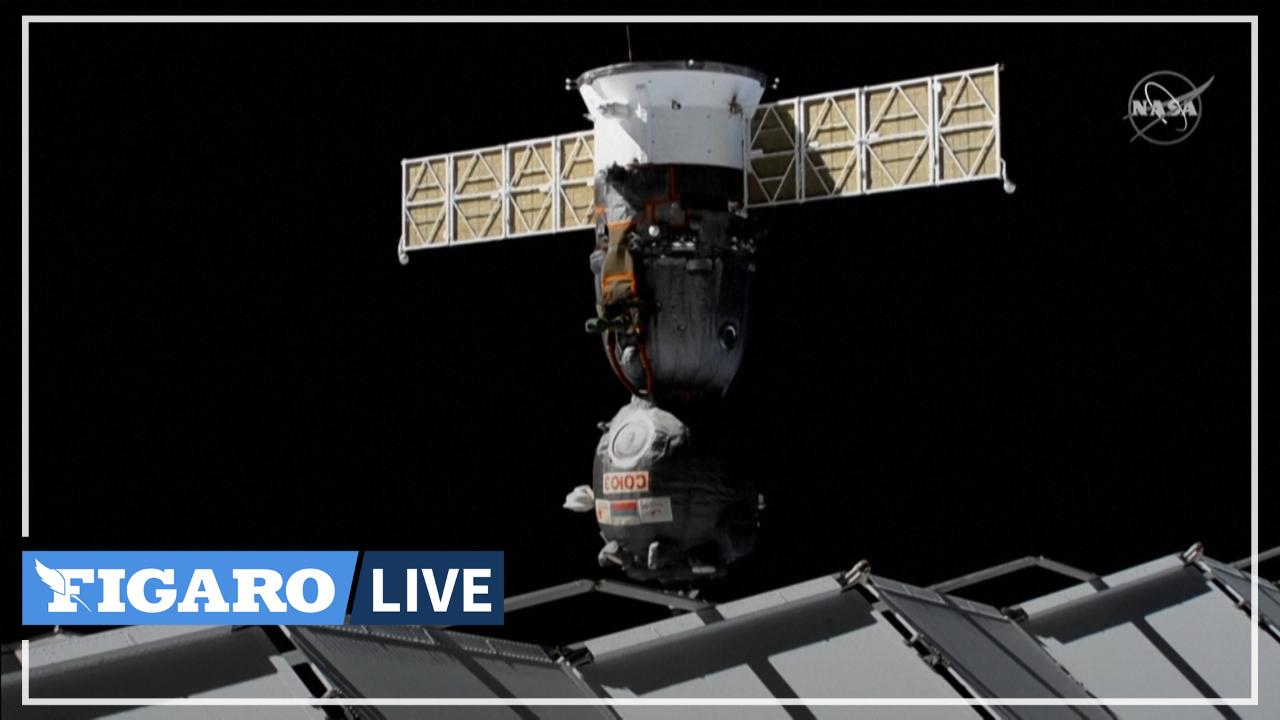 Les images de la capsule Soyouz quittant l'ISS pour revenir sur Terre