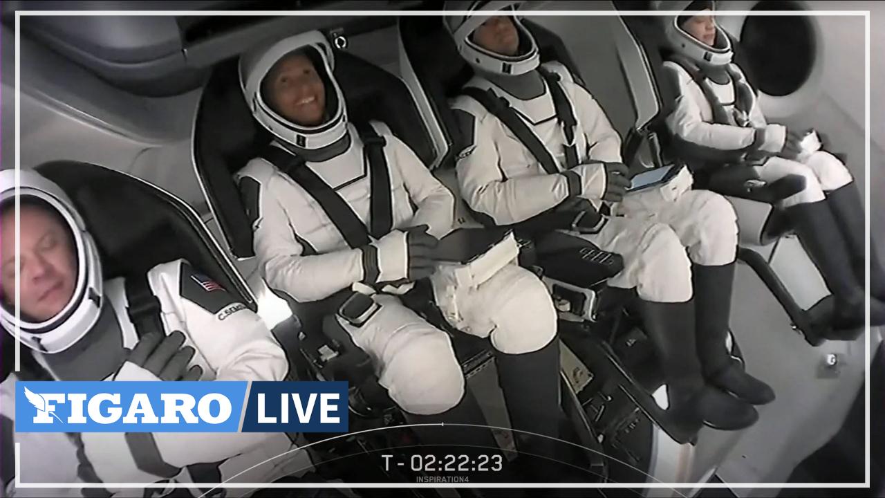 SpaceX: revivez le décollage des quatre premiers touristes spatiaux amateurs