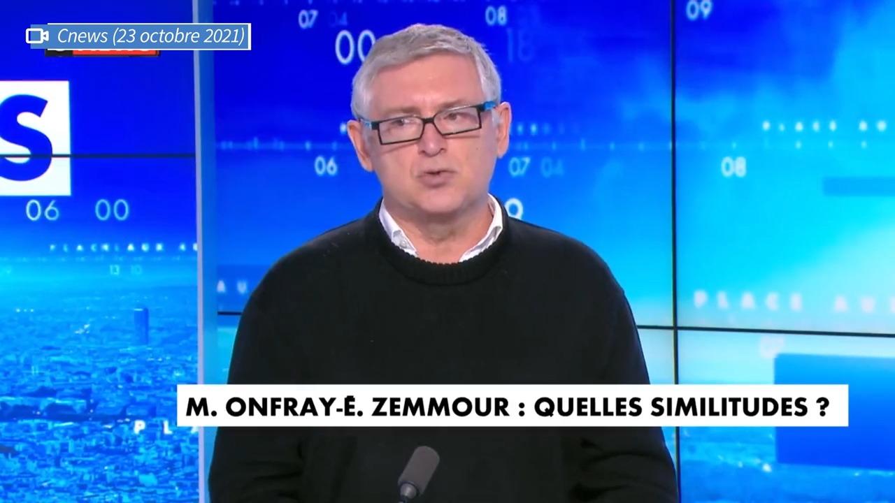 Michel Onfray n'exclut pas de voter pour Zemmour «s'il muscle son bras gauche»