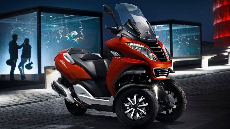 peugeot lance enfin son scooter trois roues. Black Bedroom Furniture Sets. Home Design Ideas