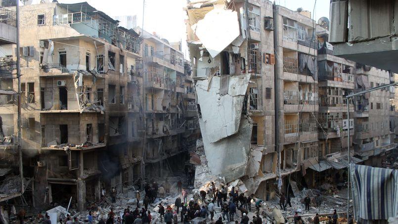 le r gime syrien largue des barils de tnt sur les rebelles d 39 alep. Black Bedroom Furniture Sets. Home Design Ideas