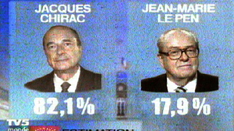 Image result for jean marie le pen chirac