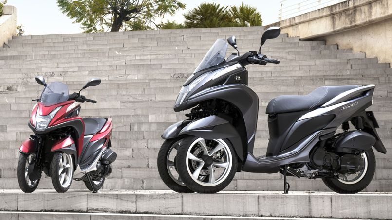 yamaha et mbk un scooter trois roues moins de 4 000 euros. Black Bedroom Furniture Sets. Home Design Ideas