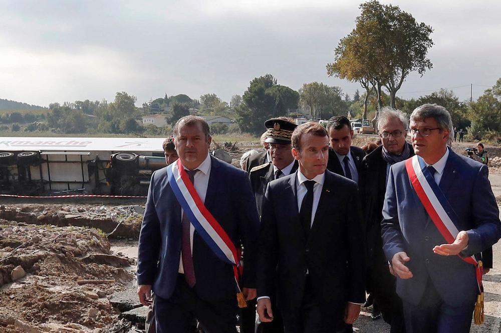 Aude : Macron débloque «au moins 80 millions d'euros» pour les sinistrés