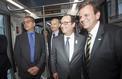 Le tramway d'Alstom s'invite à Rio, François Hollande à son bord